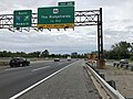 2018-07-21 17 51 52 View south along the express lanes of Interstate 95 (New Jersey Turnpike Northern Extension) just north of Exit 68 (U.S. Route 46, The Ridgefields) in Ridgefield Park, Bergen County, New Jersey.jpg