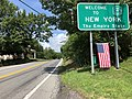 "2018-07-26 12 17 16 ""Welcome to New York"" sign along northbound New York State Route 284 just after entering Minisink, Orange County, New York from Wantage Township, Sussex County, New Jersey.jpg"