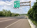 2019-05-17 18 02 58 View east along Interstate 68 and U.S. Route 40 and north along U.S. Route 220 (National Freeway) at Exit 46 (U.S. Route 220 NORTH, Bedford) in Wolfe Mill, Allegany County, Maryland.jpg