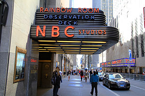 NBC Studios (New York City) - Marquee from the side