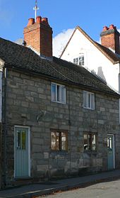 Stone-clad terraced houses
