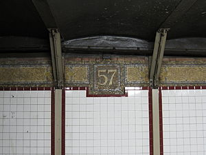 57th Street–Seventh Avenue (BMT Broadway Line) - 57 Mosaic