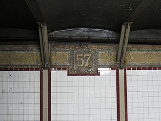 57th Street–Seventh Avenue (BMT Broadway Line) - 57 Mosaic
