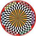 6 Players Individual Circular Chess variant in 6 Players Circular Chess invented by Hridayeshwar Singh Bhati.JPG