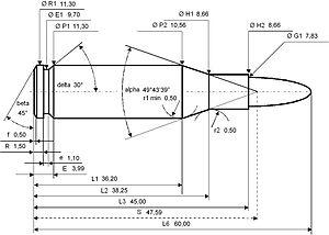 7.62×45mm - Image: 7.62×45mm