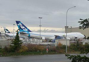 747-8F at Boeing Everett Plant fuel dock.JPG