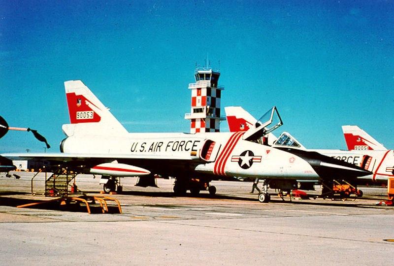 87th Fighter-Interceptor Squadron-F-106-flightline