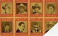 8 Stamps of Motion Picture stars, Don Coleman, Buddy Roosevelt, Fred Humes, Buffalo Bill Jr.,... (NBY 1580).jpg