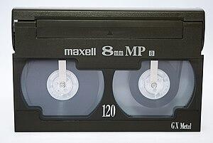 8 mm video format - A Video8 videocassette