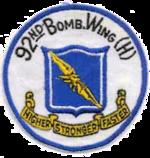 92d Bombardment Wing - B-36 - Emblem