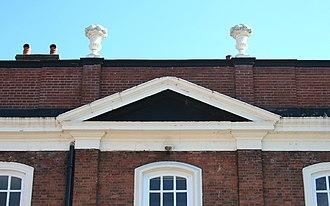 9 Mill Street, Nantwich - Pediment and parapet