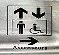 Aéroport de Lyon - 2017 - panneau ascenseur.JPG