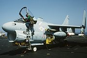 A-7E VA-72 on USS America (CV-66) Apr 1986