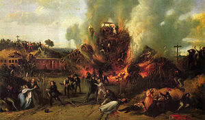 Train wreck - Versailles rail accident in 1842, 55 people were killed including the French explorer Jules Dumont d'Urville.