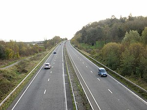A4042 road - Image: A4042 south from Pillmawr Road bridge geograph.org.uk 1564988