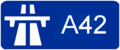 A42 (France) Route marker.png