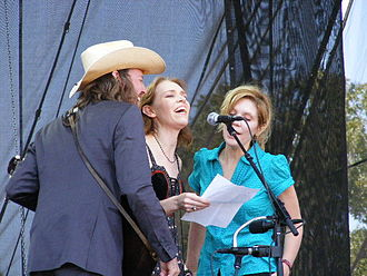 Gillian Welch - David Rawlings, Gillian Welch and Alison Krauss performing at the 2008 Austin City Limits Music Festival