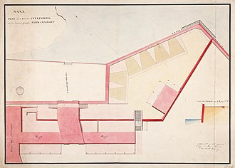 Colonial architecture in Jakarta - Image: AMH 5456 NA Plan of the Culemborg bastion at Batavia