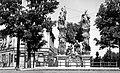 A Flórián téren volt Fogadalmi oltár (szent Flórián, szent Fülöp, szent Károly szobraival) Fortepan 9274.jpg
