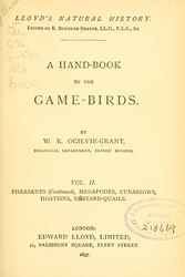 A Hand-book to the Game-Birds