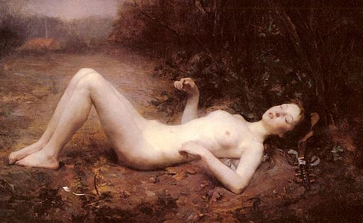 A Nude With Mandoline-George Callot-1873