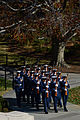 A U.S. Coast Guard honor guard begins a march to the Tomb of the Unknowns at Arlington National Cemetery in Arlington, Va., during a Veterans Day wreath-laying ceremony Nov. 11, 2013 131111-D-DB155-014.jpg