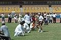 A game of Kho-Kho in progress at the Sports meet for Parliamentarians and Media Persons, in New Delhi on August 30, 2005 (2).jpg