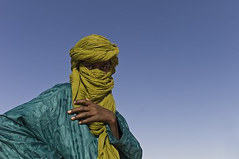 A touareg at the Festival au Desert near Timbuktu, Mali 2012.jpg