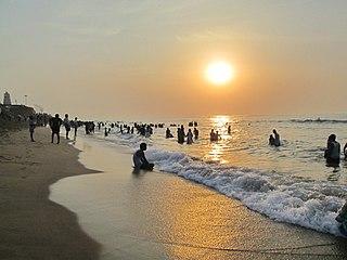 Thiruchendur Town in Tamil Nadu, India