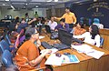 A view of the Election Media Centre of Press Information Bureau for the media persons to update the results of the General Election-2009, at Shastri Bhavan, in New Delhi on May 16, 2009.jpg