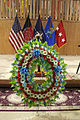 A wreath sits during a Memorial Day ceremony May 27, 2013, at Kabul International Airport in Kabul, Afghanistan 130527-A-VC572-517.jpg