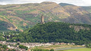 Abbey Craig - Abbey Craig with Wallace Monument on top