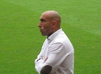 Abelardo Fernández - Abelardo coaching Sporting Gijón in 2014