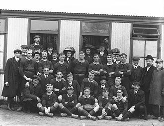 Aberavon RFC - A victorious Aberavon team a day after beating a Cork team on a tour of Ireland, 13 April 1909