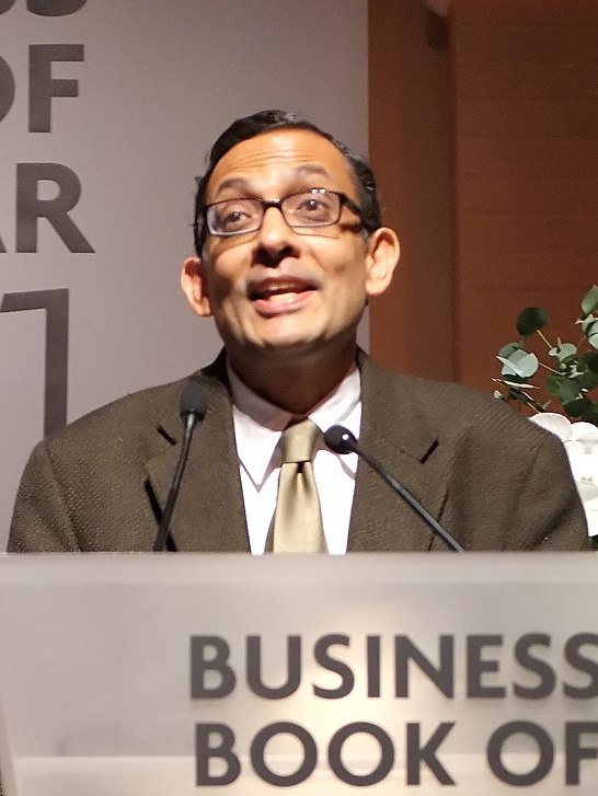 Abhijit Banerjee FT Goldman Sachs Business Book of the Year Award 2011 (cropped)