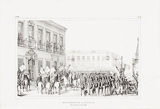 Acclamation de D. Pedro II. à Rio de Janeiro le 7 Avril, 1831