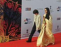 Actress Rekha on the Red Carpet at the inaugural ceremony of the 44th International Film Festival of India (IFFI-2013), in Panaji, Goa on November 20, 2013.jpg