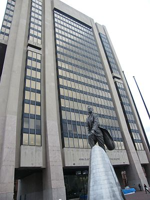 Adam Clayton Powell Jr. - Adam Clayton Powell Jr. State Office Building at Adam Clayton Powell Jr. Boulevard and 125th Street in Harlem.