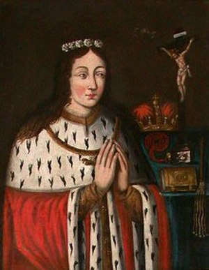 Adelaide of Poland - Fragment of an image of Adelaide in the Dominican Church of Sandomierz.