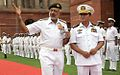 Admiral DK Joshi with Vice Admiral Thura Thet Swe at South Block.jpg