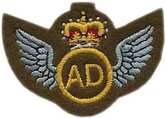 395 Air Despatch Troop RLC -  Air Despatch brevet awarded after completion of 20 sorties