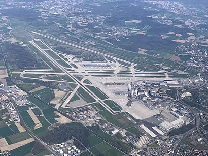 How to get to Flughafen Zürich with public transit - About the place
