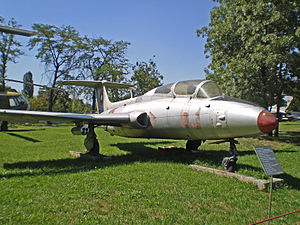 National Museum of Military History (Bulgaria) - Aero L-29 on display