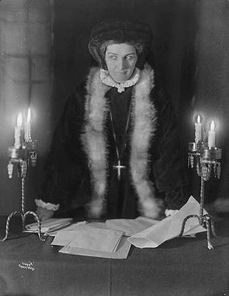 Inger Ottesdotter Rømer - Lady Inger, as portrayed by the Norwegian actress Agnes Mowinckel in 1921.