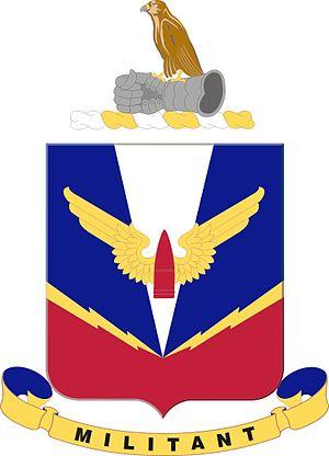 Coats of arms of U.S. Air Defense Artillery Regiments - Air Defense Artillery School device