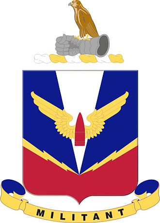Coats of arms of U.S. Air Defense Artillery Regiments - Air Defense Artillery School device