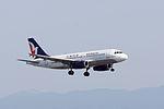 Air Macau ,NX856 ,Airbus A319-132 ,B-MAO ,Arrived from Macau ,Kansai Airport (16809186611).jpg