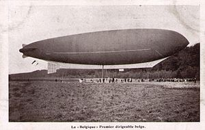 Belgian Air Component - The first Belgian airship Belgique