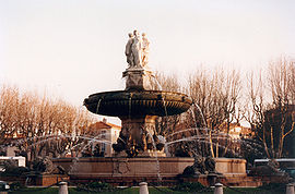 The Round Fountain, or Three Graces, built in 1860
