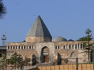 "Mesud I - The Alâeddin Mosque in Konya was built during the reign of Masud I. The building served as the ""Mosque of the Throne"" for the Seljuq Sultans of Rum and contains the dynastic mausoleum."